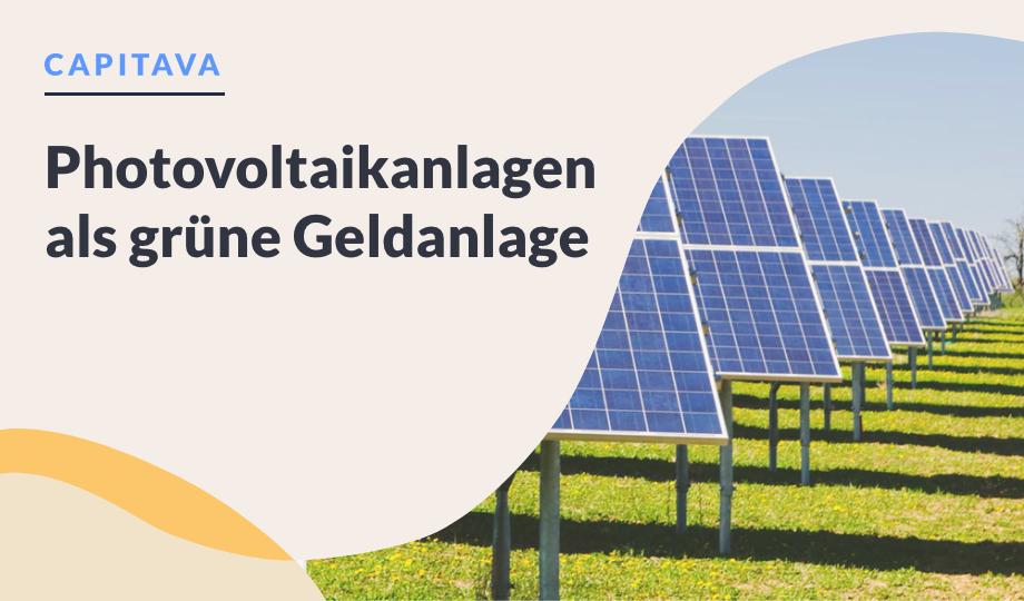 Photovoltaikanlagen als grüne Geldanlage image