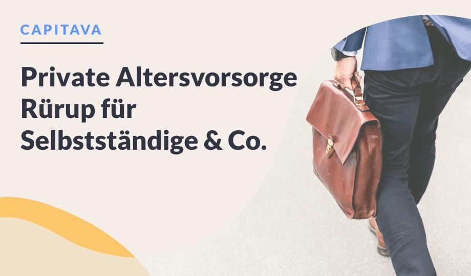 Private Altersvorsorge Rürup für Selbstständige & Co. image